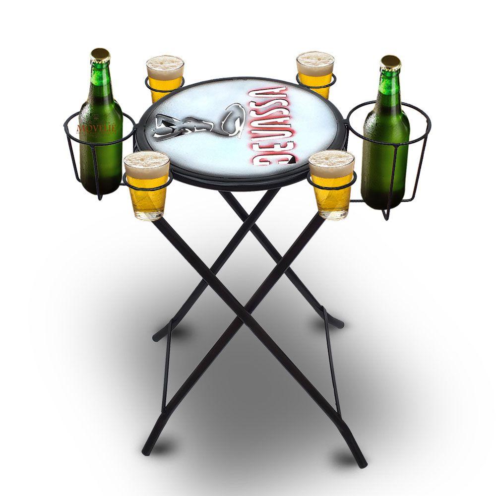 Mesa dobrável petisqueira Cerveja Devassa