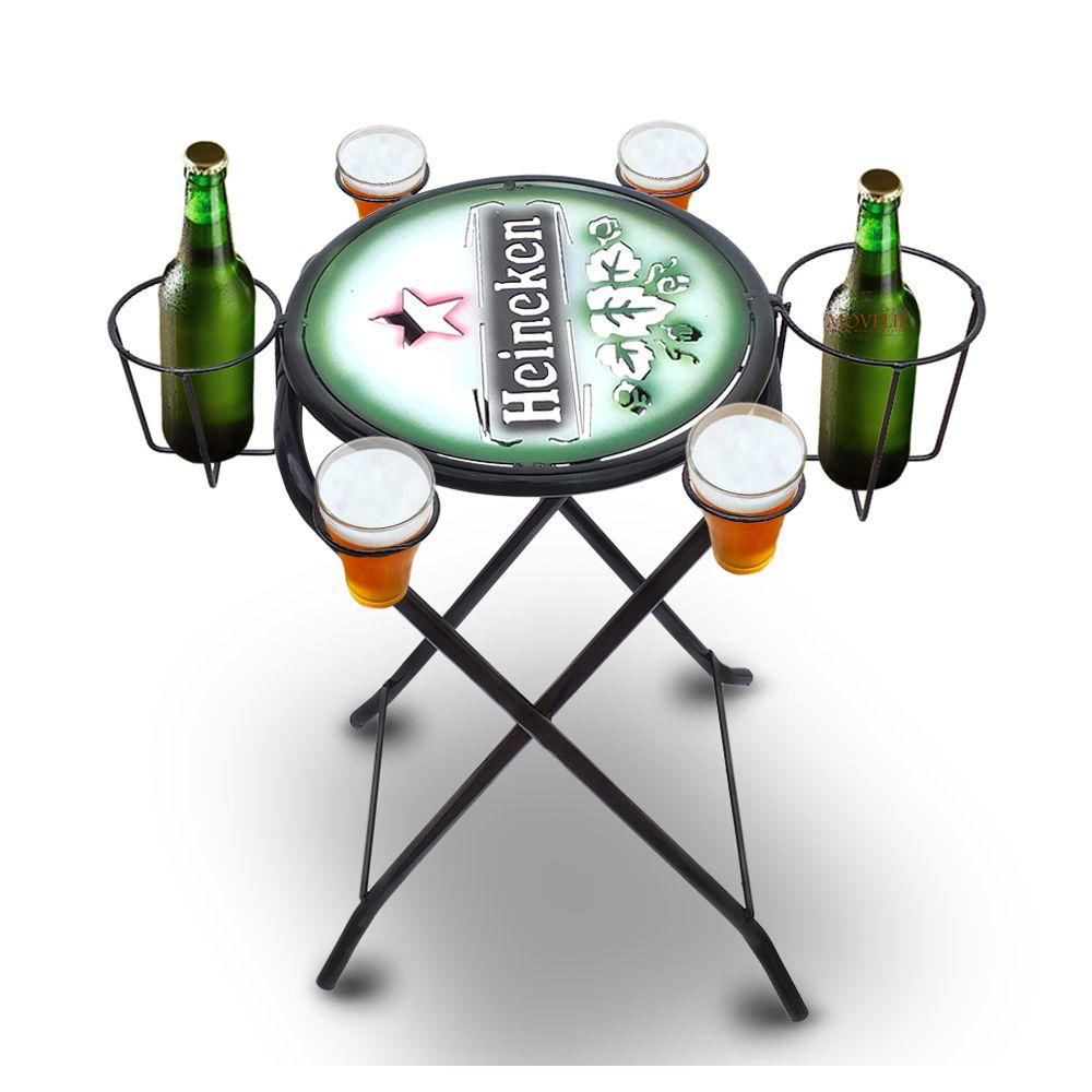 Mesa dobrável petisqueira Cerveja Heineken