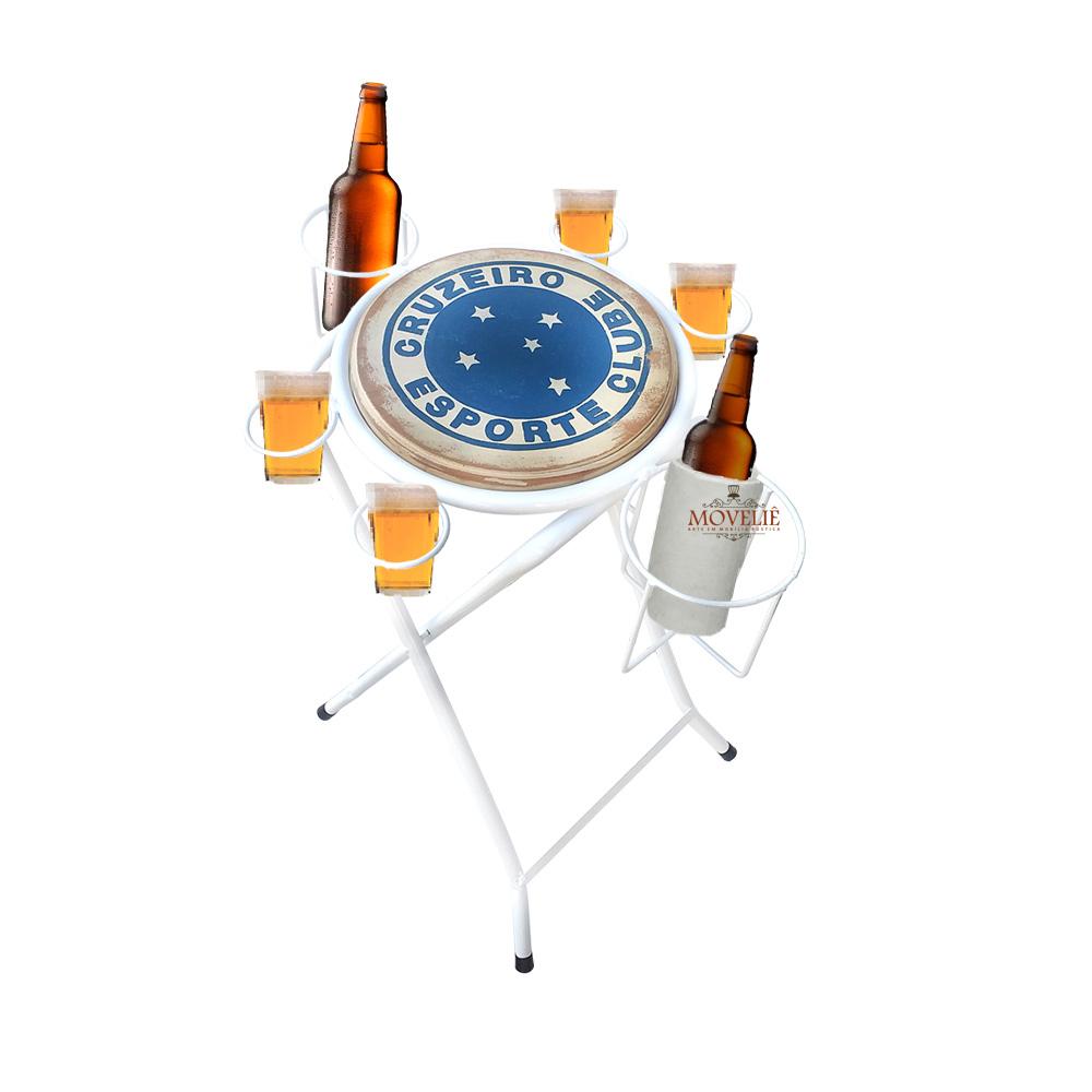 Mesa dobrável petisqueira cruzeiro branco