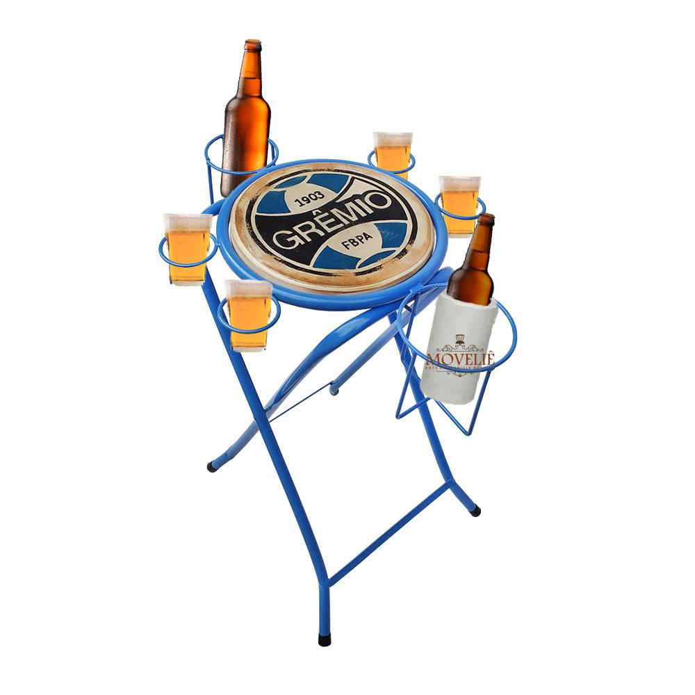 Mesa dobrável petisqueira grêmio azul