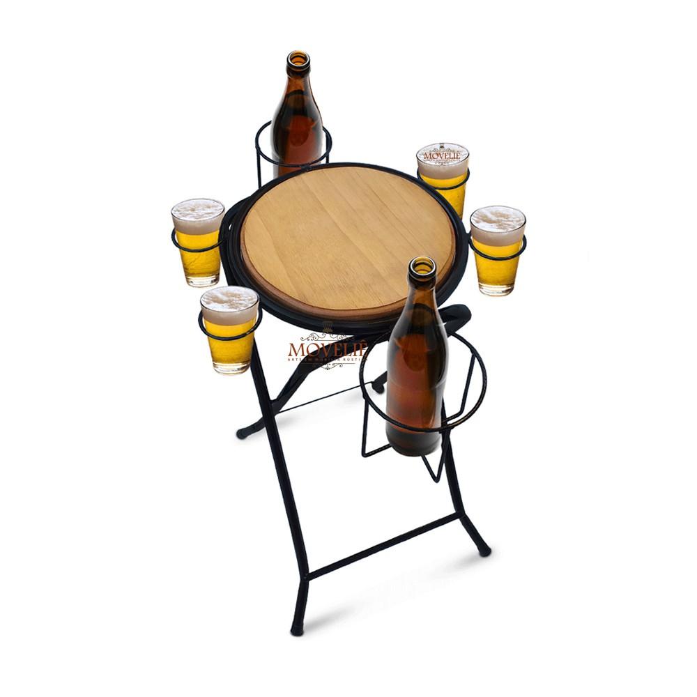 Mesa dobrável petisqueira cerveja artesanal - preto