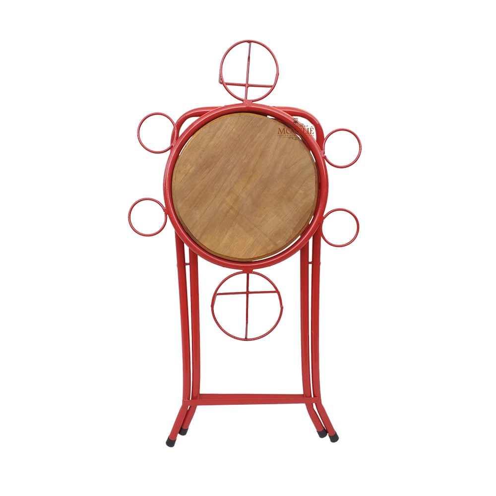 Mesa dobrável petisqueira - vermelha