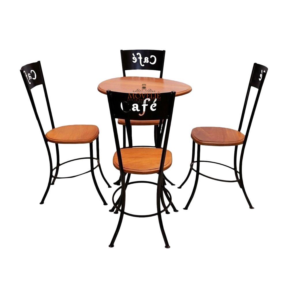Mesa e Cadeiras para Cafeteria Lanchonete e Bar