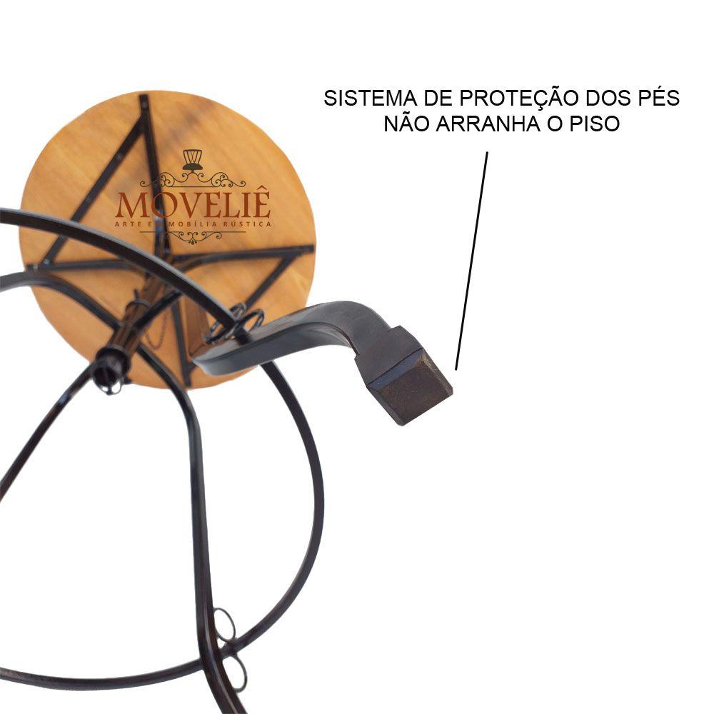 Mesa Lateral Redonda Bistrô 60 cm