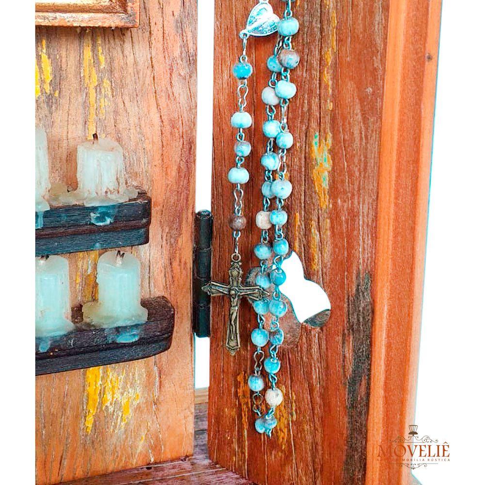 Oratório Barroco em Madeira - Nossa Senhora Aparecida