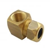 Adaptador para flexivel cotovelo 90º rosca interna 1/2 NPTF x cano de cobre 3/8