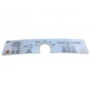 Adesivo do painel compatíve lavadora Brastemp BWU11AB