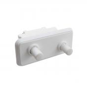 Interruptor duplo da porta compatível geladeira Electrolux