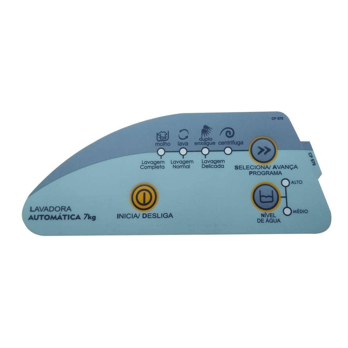 Adesivo do painel da Lavadora Consul 7k CWC24A
