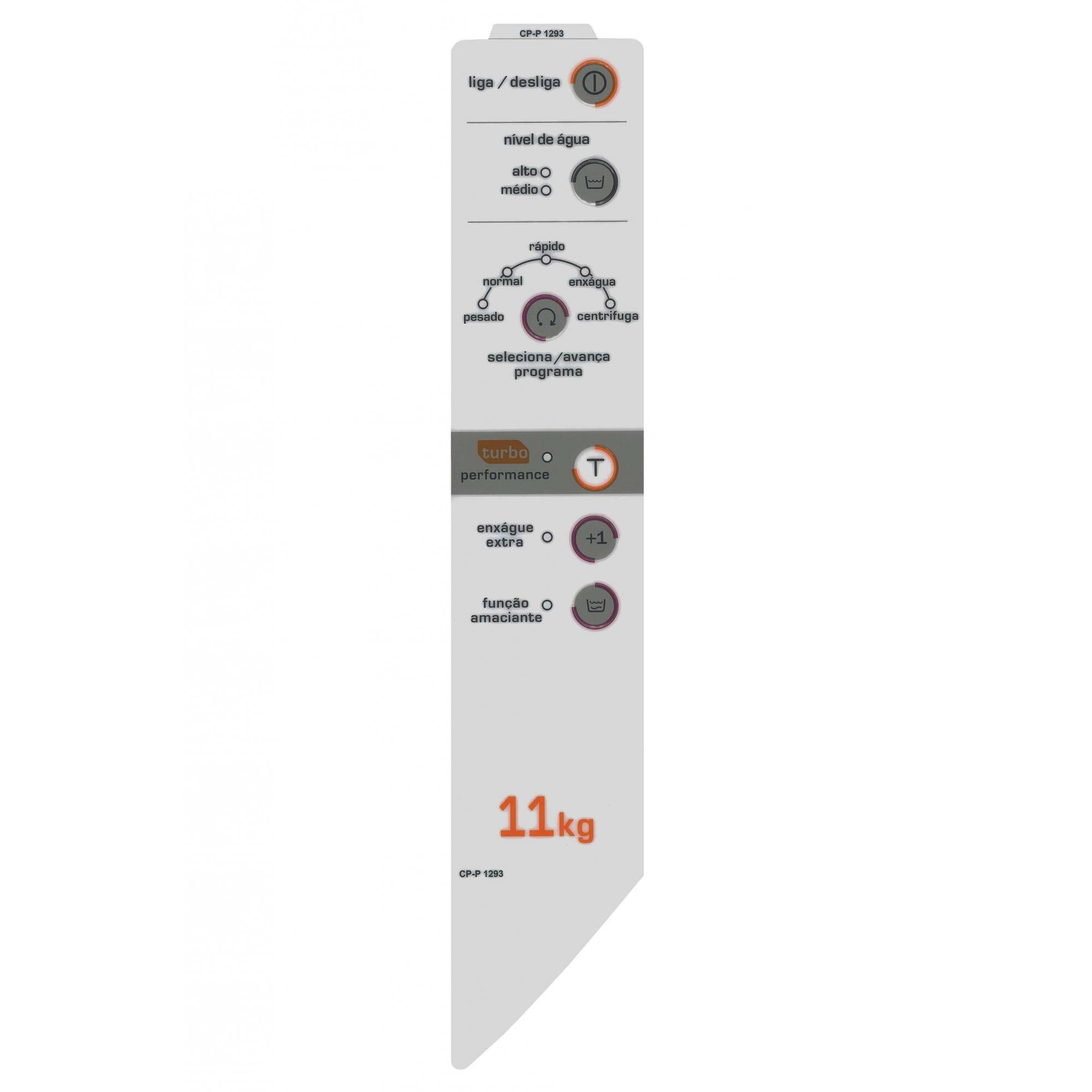 Adesivo Lateral compatível Lavadora Brastemp BWC11A