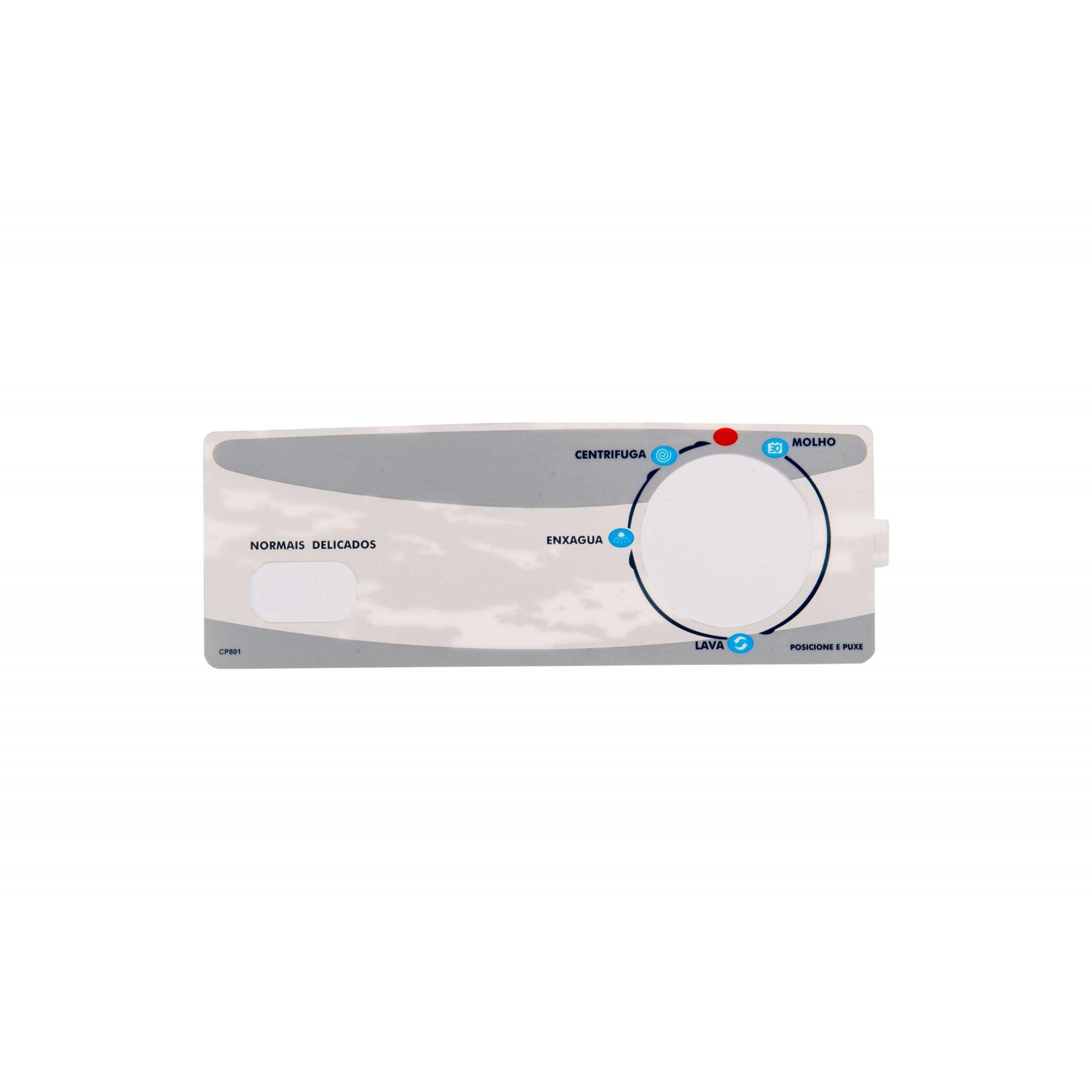 Adesivo Painel compatível Lavadora Brastemp Clean