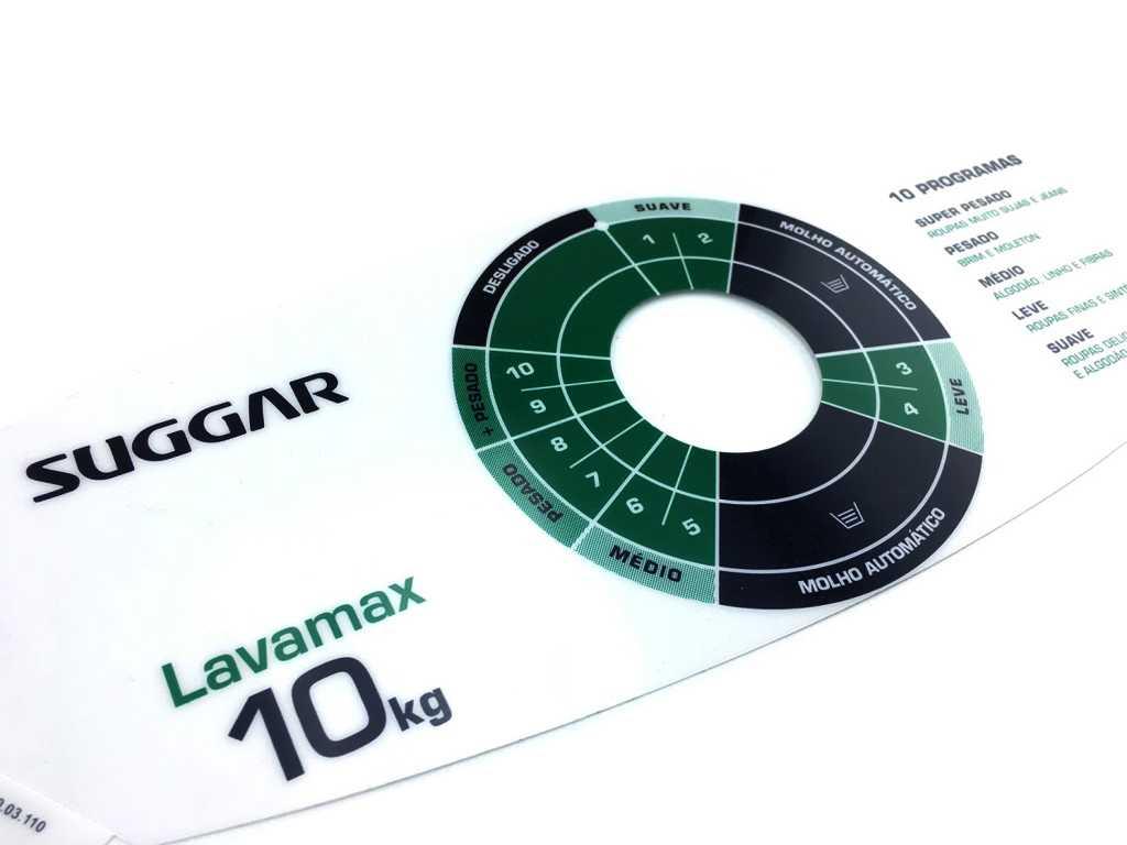Adesivo Painel Suggar Lavamax 10kg Original
