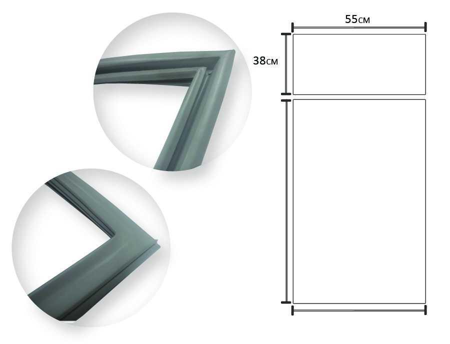Borracha gaxeta geladeira 1 porta Continental,  Bosch 125X50 R27, RC26, RC27, RC29, KSG27