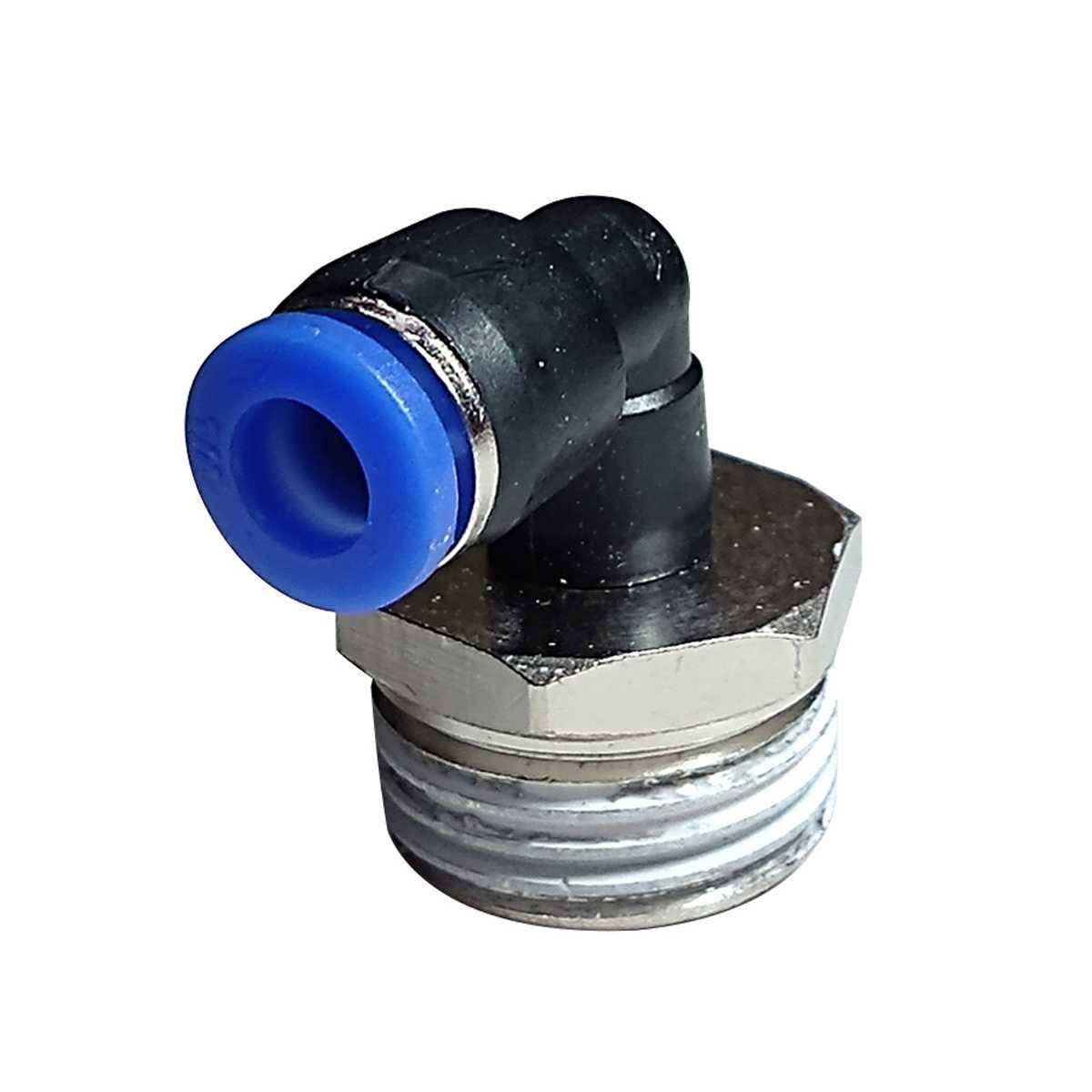 Conexão para bebedouro em L BSPT 6MM Rosca 1/2 importado
