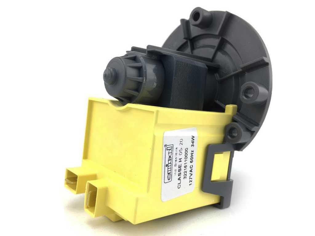 Eletro bomba para Soltar Agua 127v Compativel com Lavadoras Brastemp, Consul, Electrolux, Ge