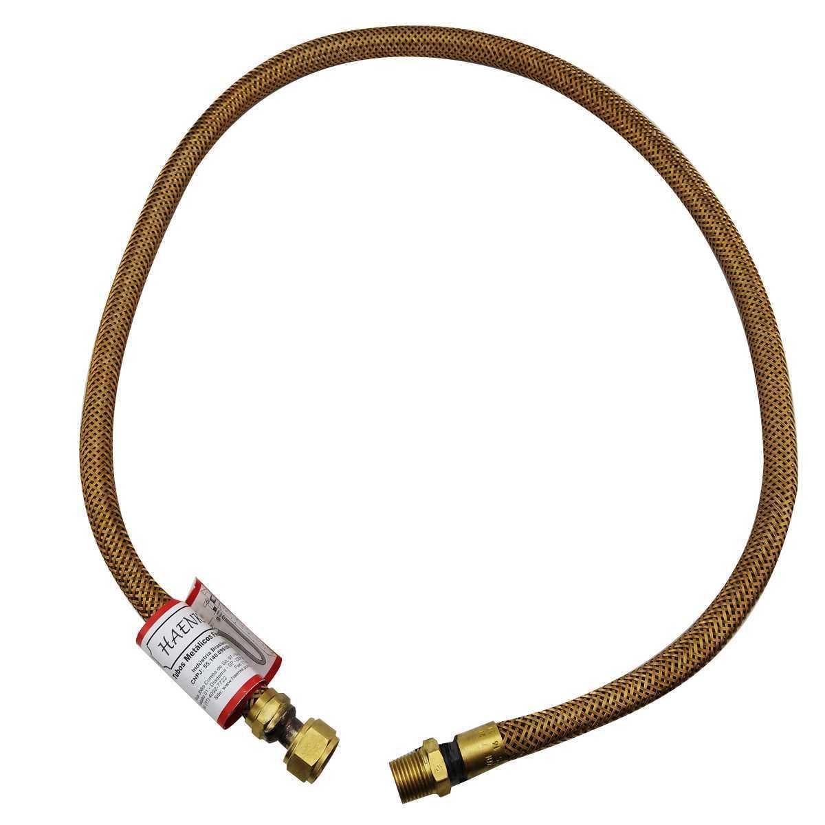 Flexivel para fogão dourado 80CM 1/2 NPT X NPTF