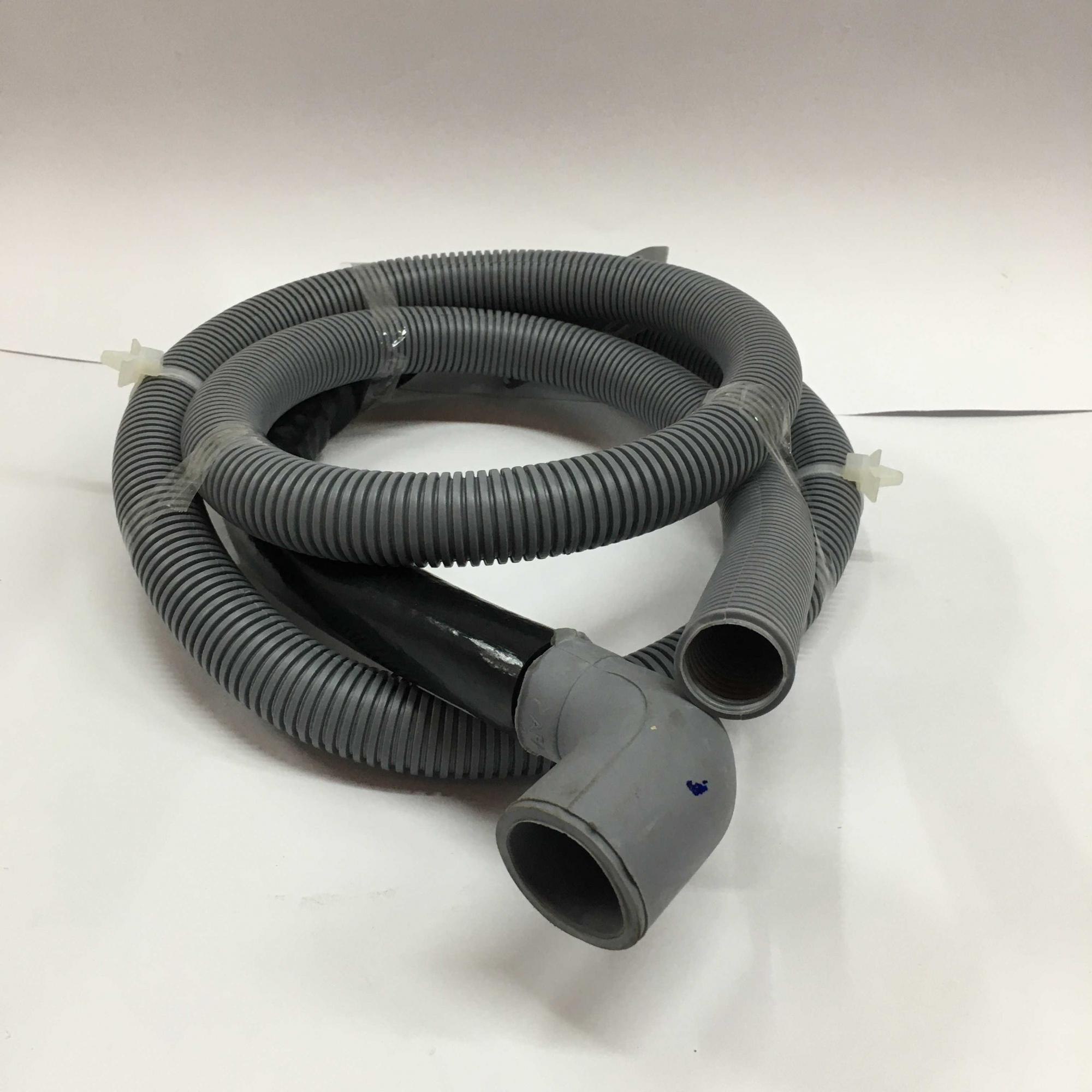 Mangueira saida de agua lavadora 2m boca larga curva 28mm