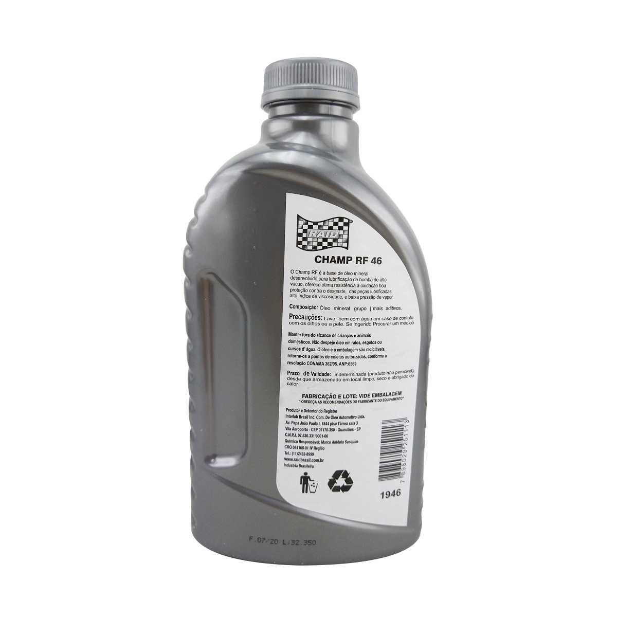Óleo para bomba de vácuo 1 litro