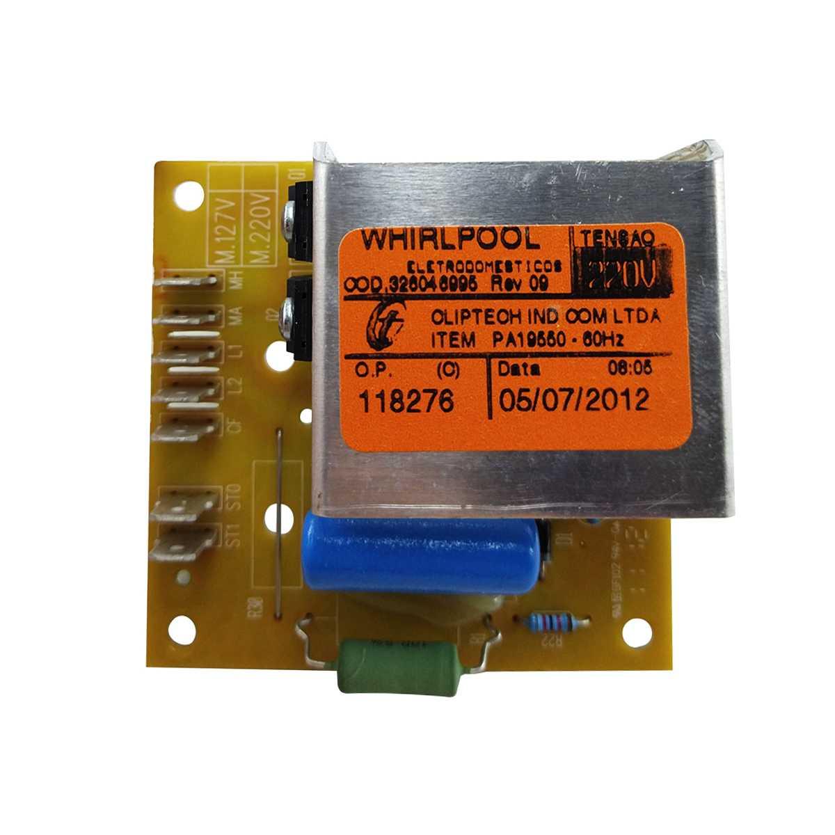 Placa controle lavadora Brastemp e Consul 220V 326046995