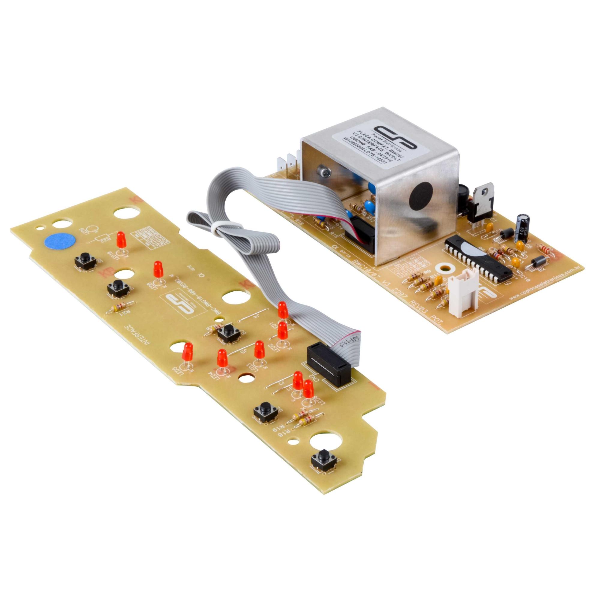Placa eletronica compatível Lavadora Brastemp 3 versão