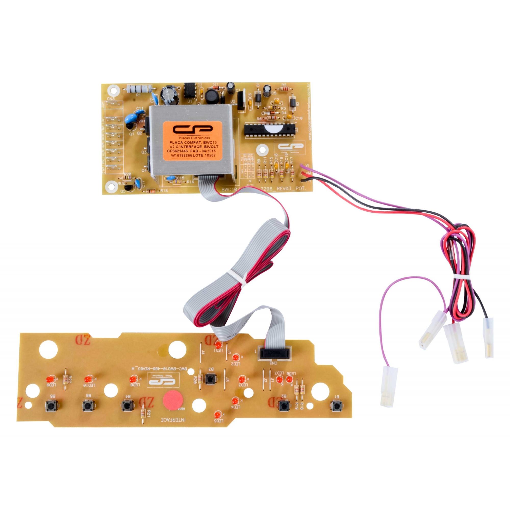 Placa eletronica compatível Lavadora Brastemp BWC10ab