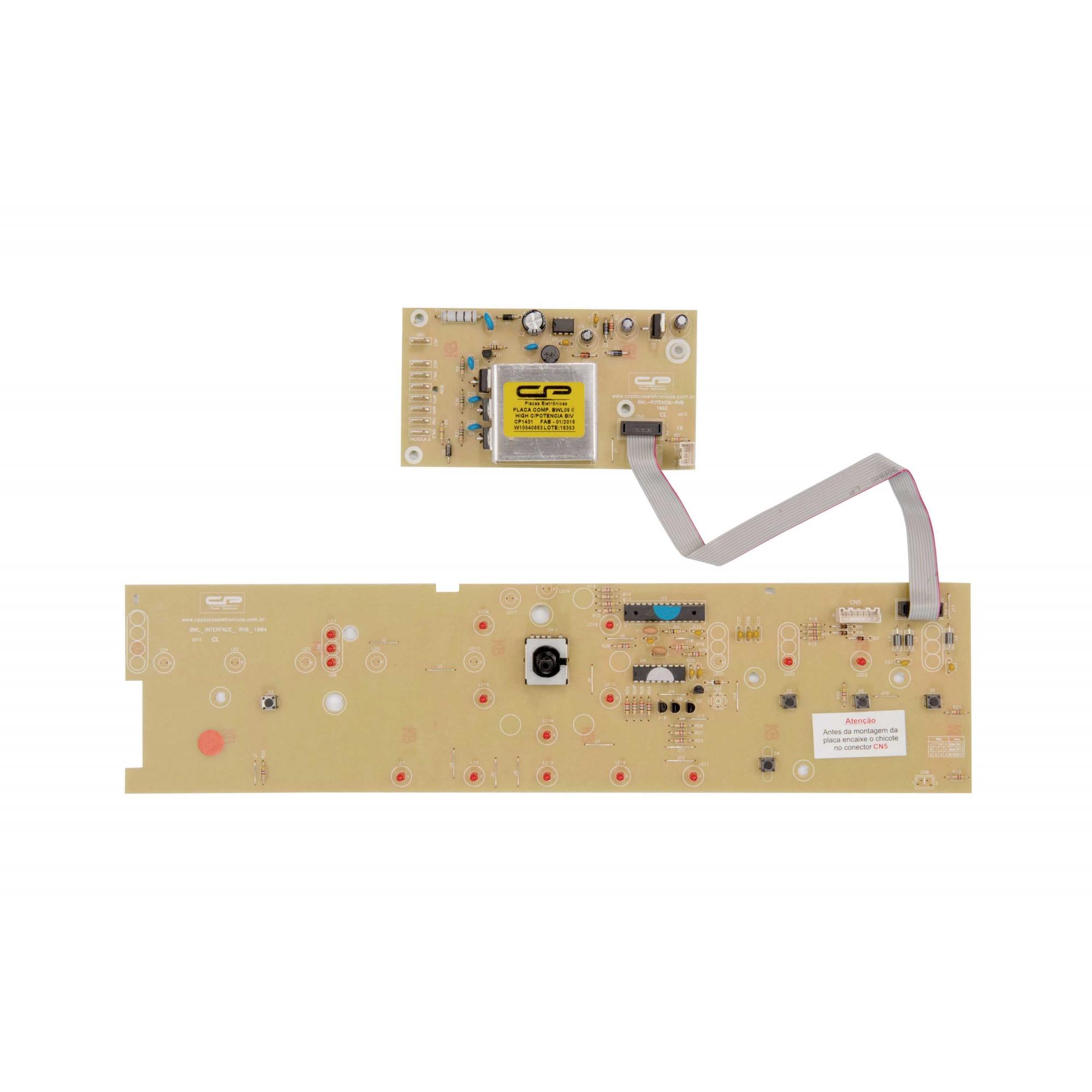 Placa eletronica compatível lavadora Brastemp BWL09B Versão 2