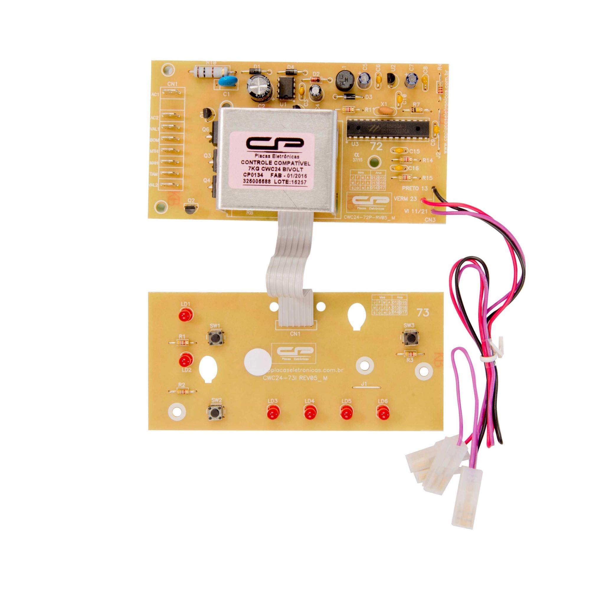 Placa eletronica compatível Lavadora Consul CWC24 7kg