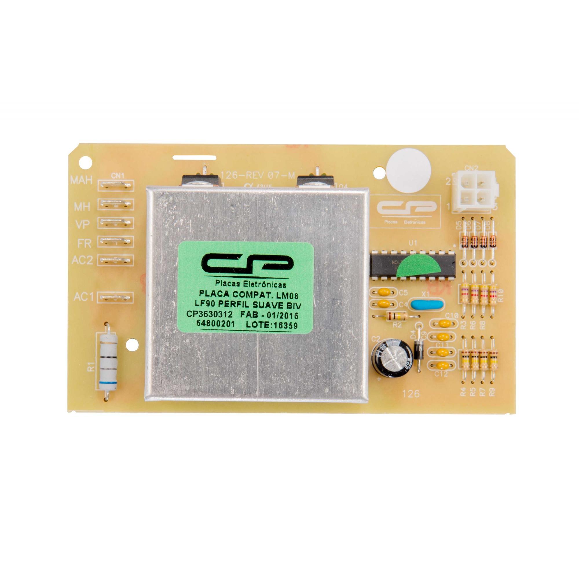 Placa Eletronica compatível Lavadora Electrolux LM08, LF09