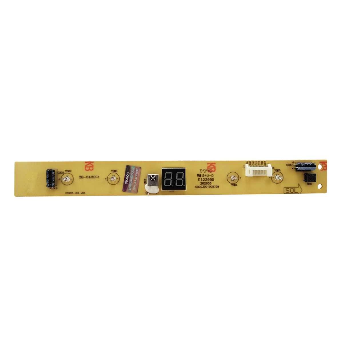Placa interface com visor Ar Condicionado Consul 1241510 Bivolt