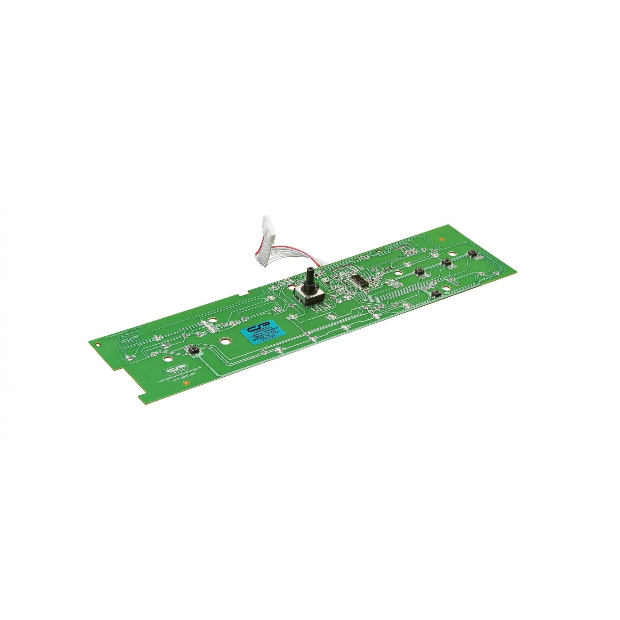 Placa Interface compatível Lavadora Brastemp BWL09B
