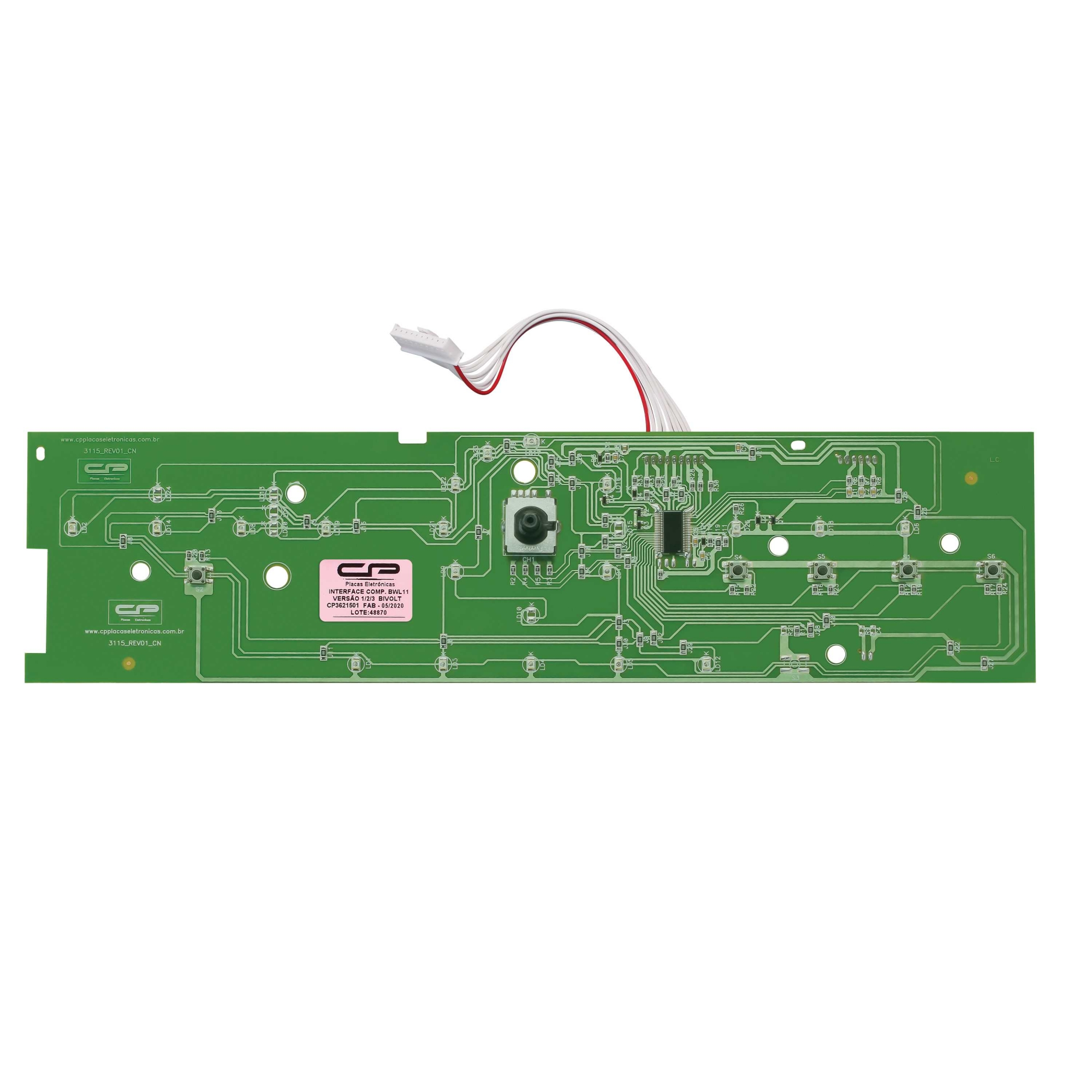 Placa Interface compatível Lavadora Brastemp BWL11A CP