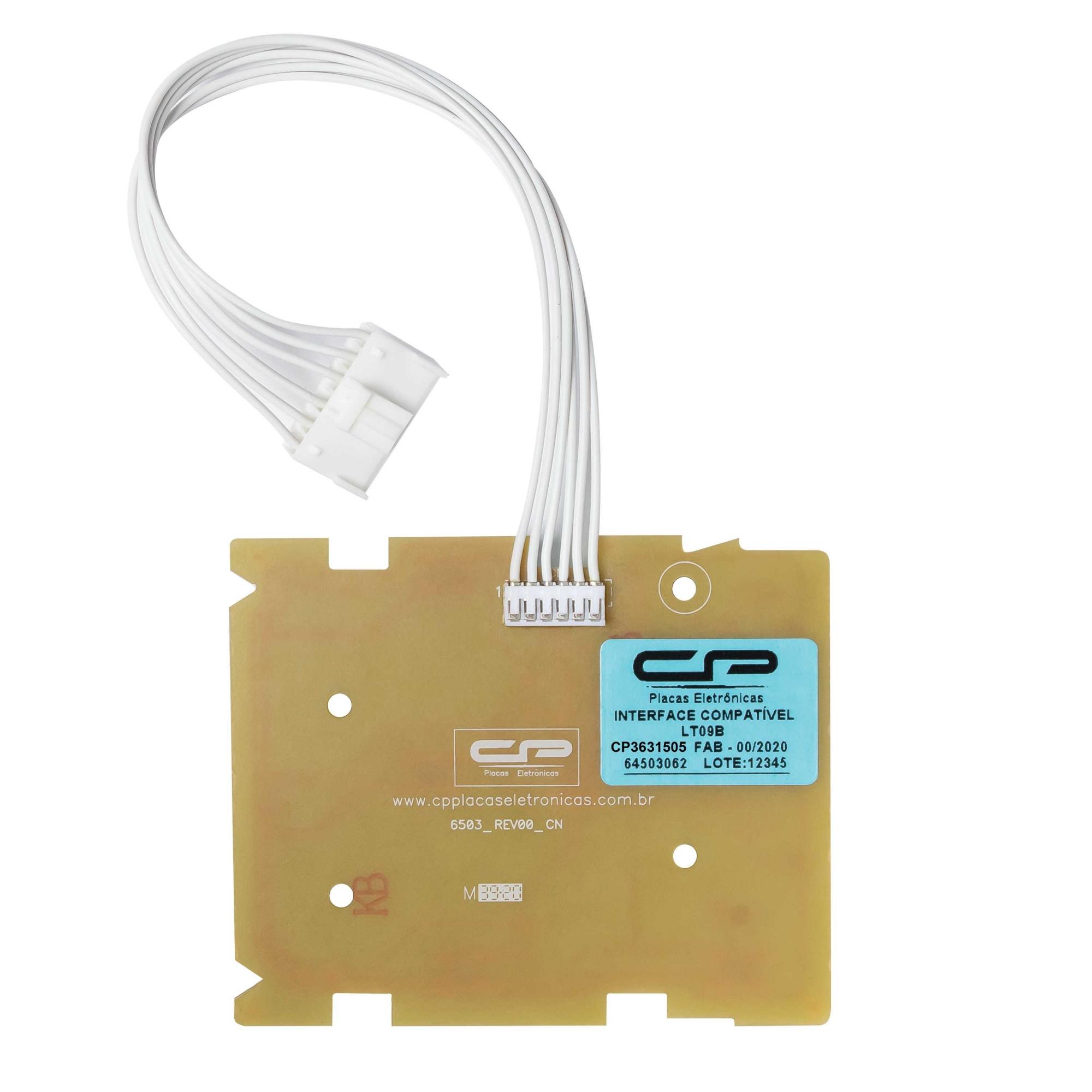 Placa Interface compatível Lavadora Electrolux Led Azul LT09B