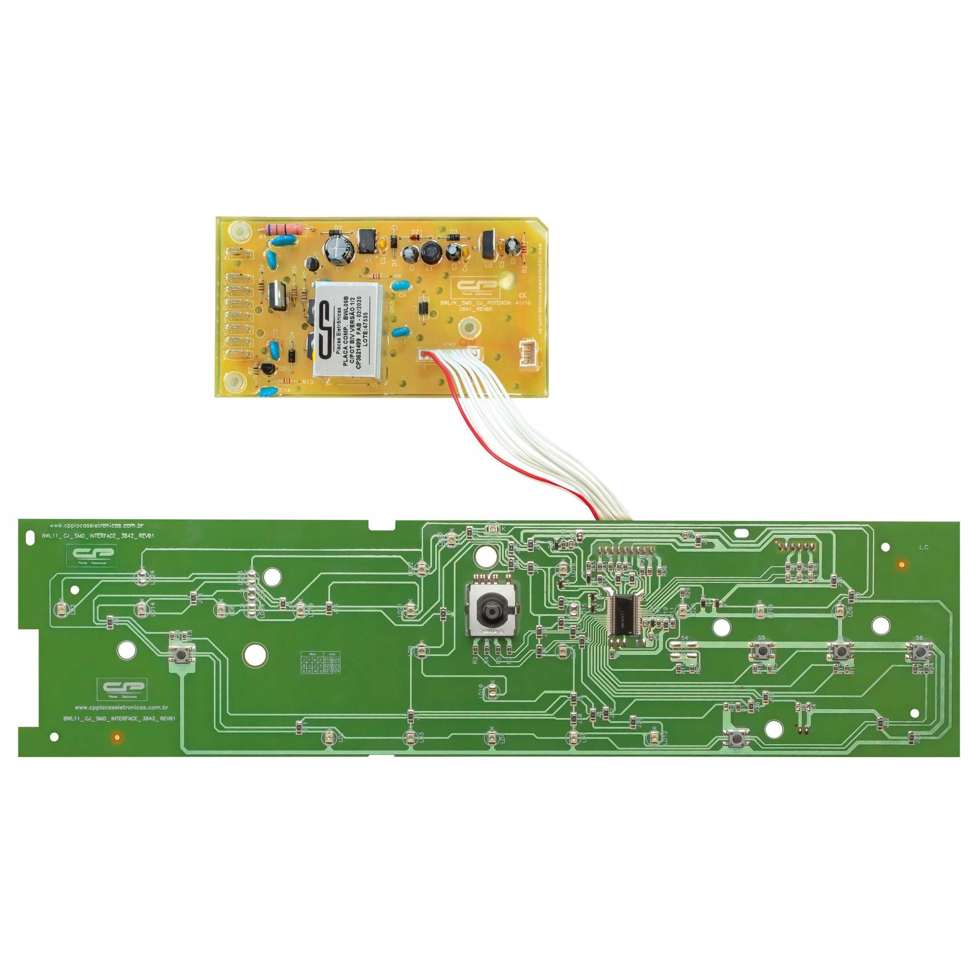 Placa Interface e Potencia Compatível Lavadora Brastemp BWL