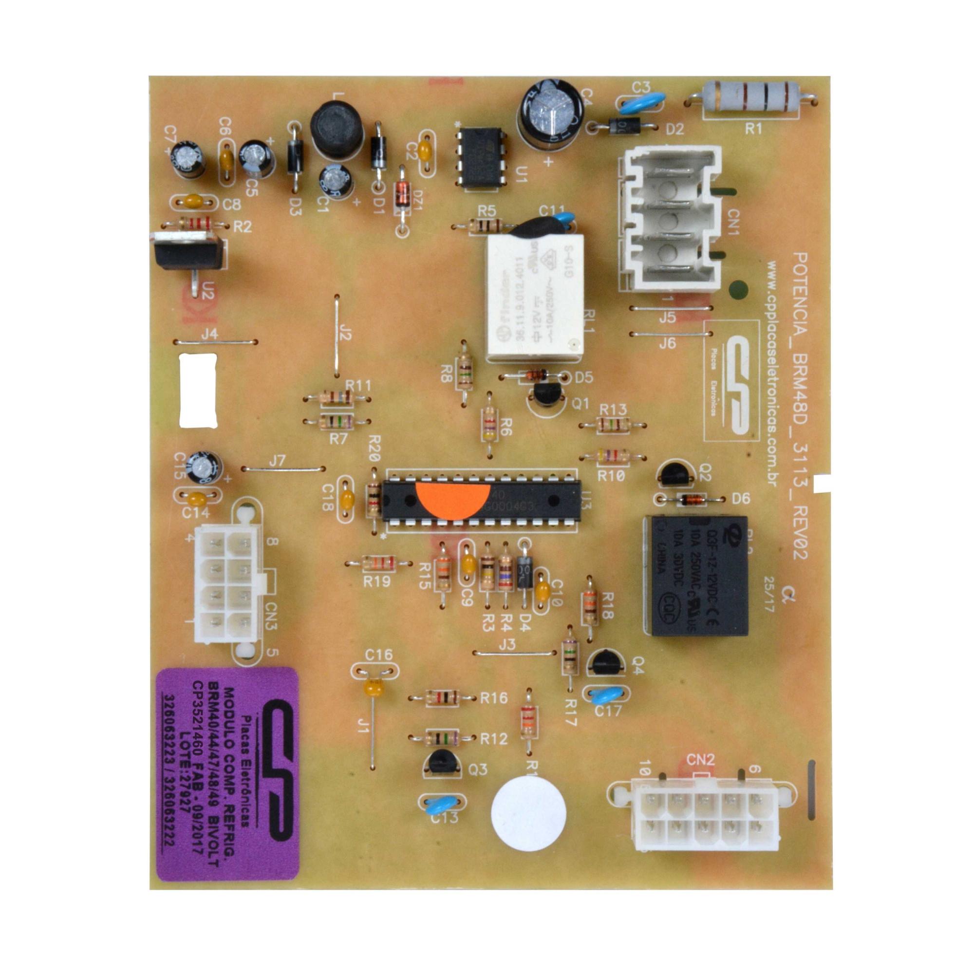 Placa Modulo compatível Geladeira Brastemp  BRM CP