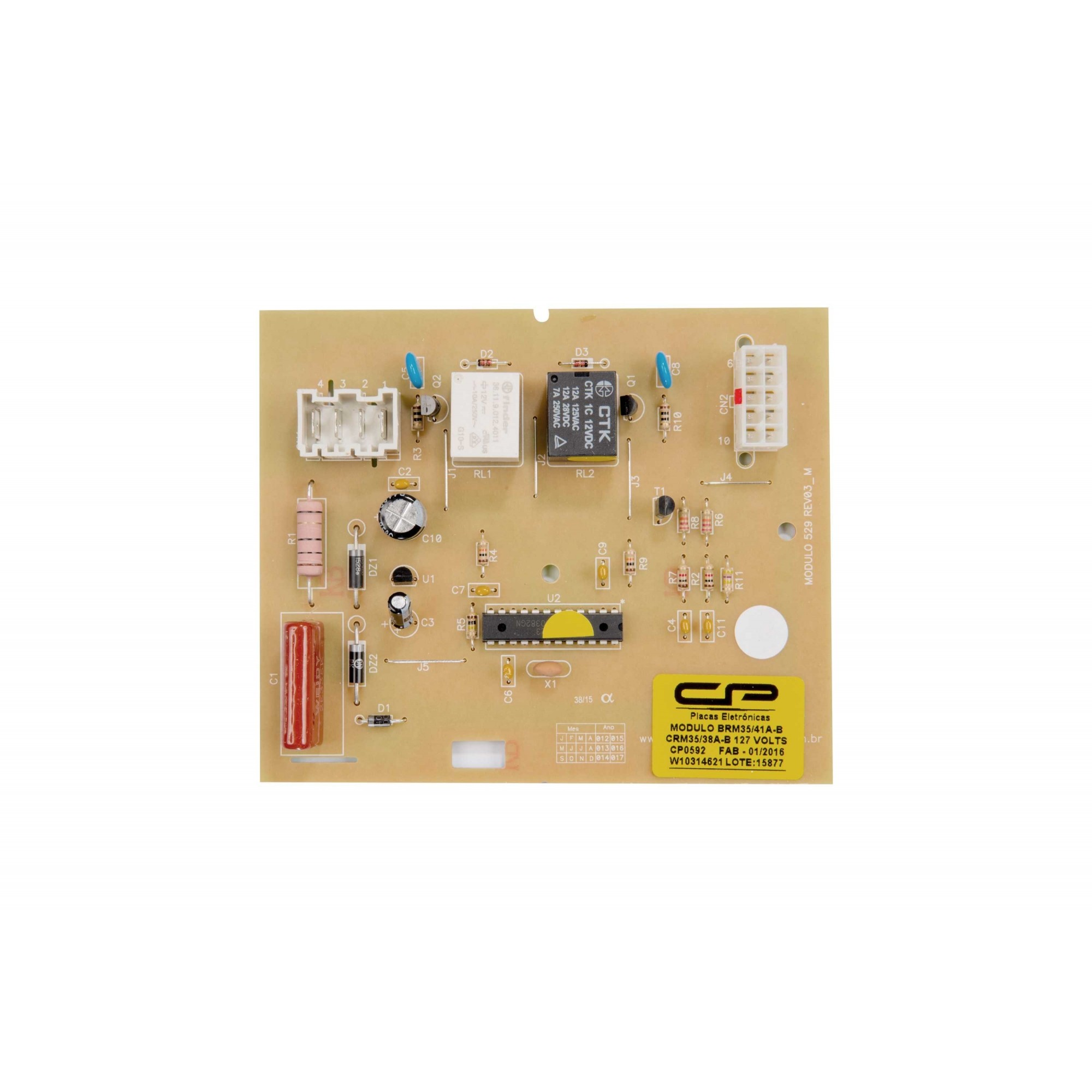 Placa modulo eletronico geladeira Brastemp e Consul  BRM CRM CP0592