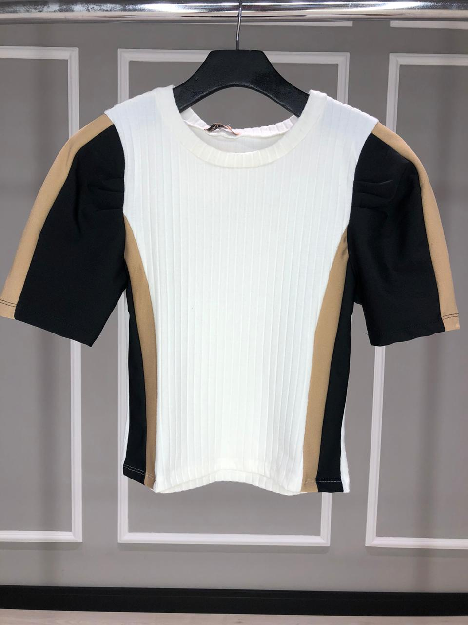 BLUSA CANELADA PRINCESS  - ITEM 3