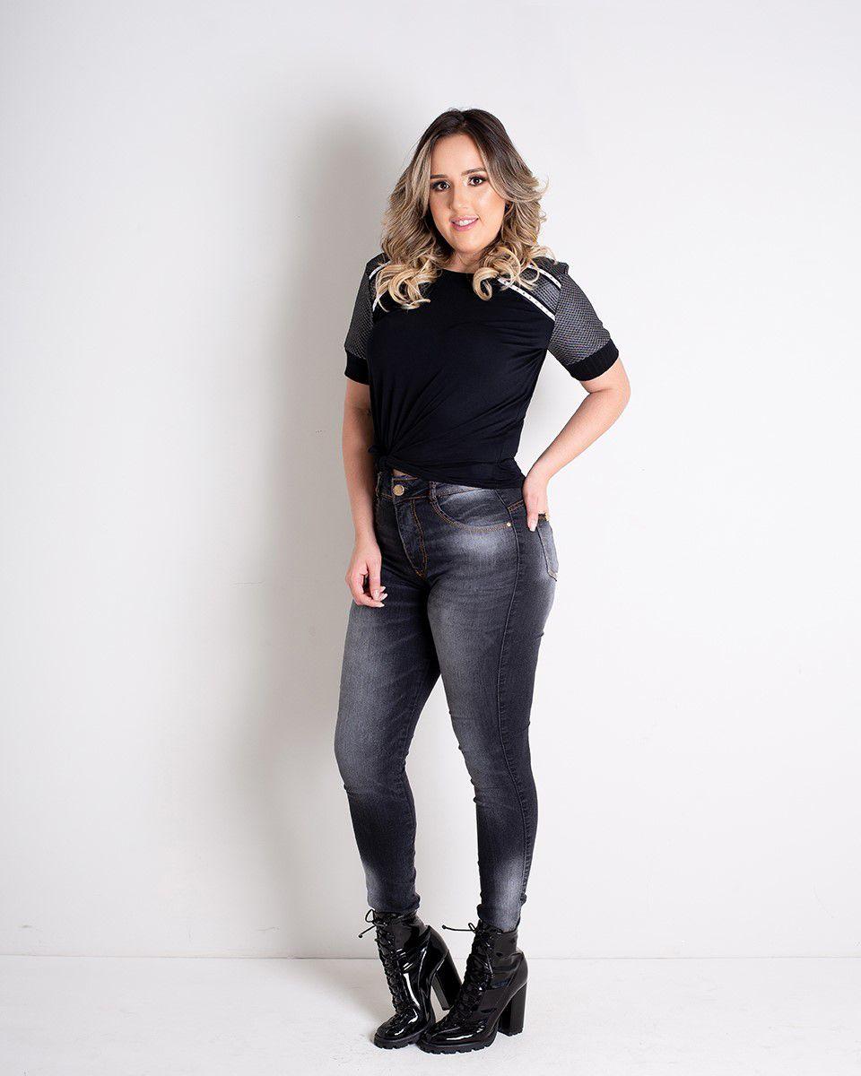 CALÇA ESTONADA BLACK  - ITEM 3