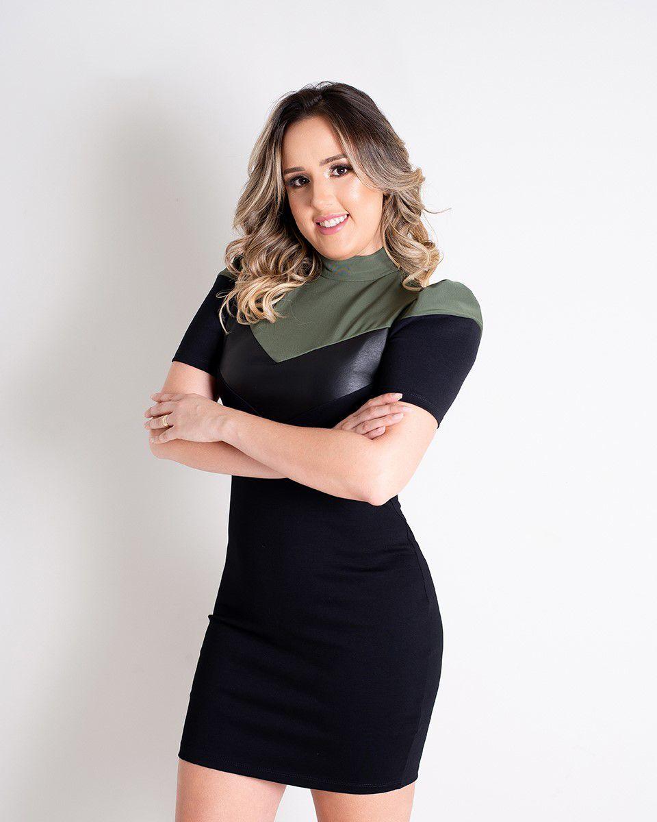 VESTIDO GOLA ANADELIA  - ITEM 3