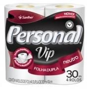 PAPEL HIGIENICO ROLINHO FL SIMPLES 4X30M VIP NEUTRO (PERSONAL)