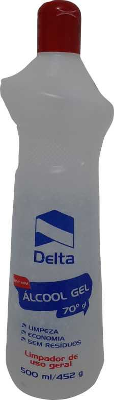 ALCOOL GEL 70° INPM 500ML (DELTA)