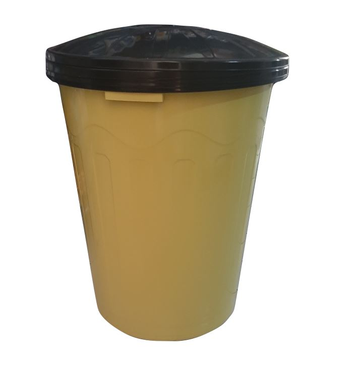 BALDE PLASTICO 110L C/ TAMPA (FORTE PLASTICO)