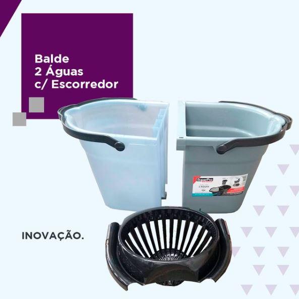 BALDE PLASTICO 2 AGUAS C/ESPREMEDOR 20L SP9232 (SUPERPRO BETTANIN)