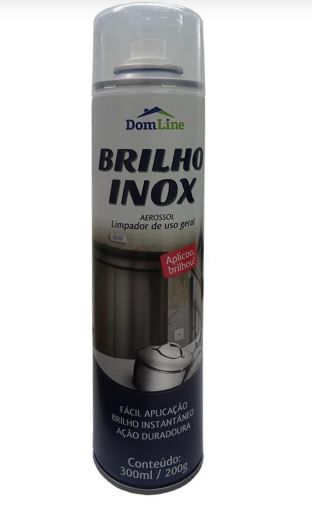 BRILHA INOX AEROSOL 200G 300ML (DOMLINE)