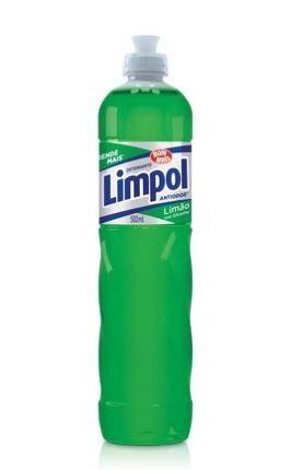 DETERGENTE LAVA LOUÇAS LIMÃO 500ML (LIMPOL)