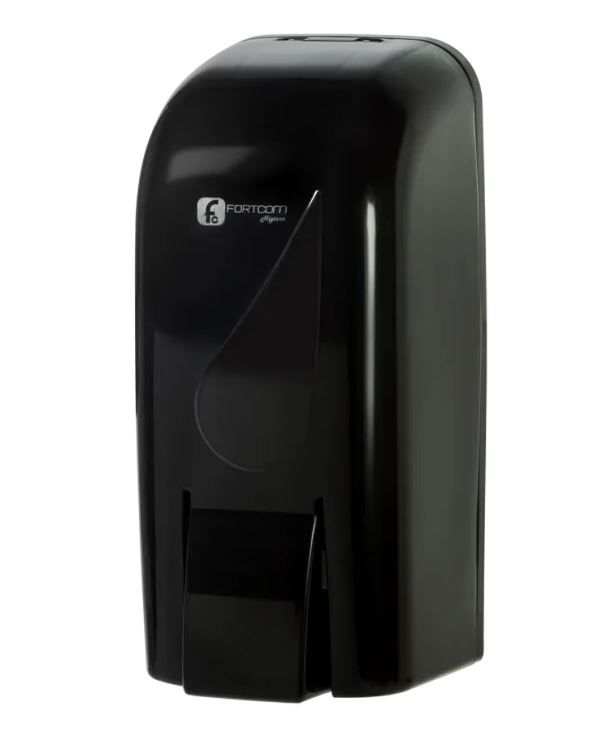 DISPENSER SABONETEIRA RESERVATÓRIO BLACK - LDS850 BB (FORTCOM)
