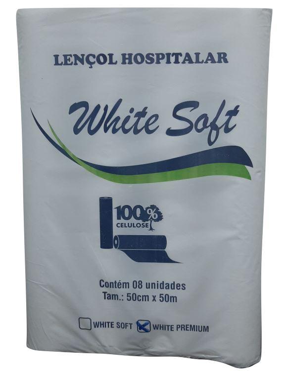 LENCOL HOSPITALAR CELULOSE C/8 50X50 (WHITE SOFT)