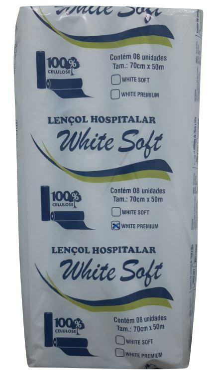 LENCOL HOSPITALAR CELULOSE C/8 70X50 (WHITE SOFT)