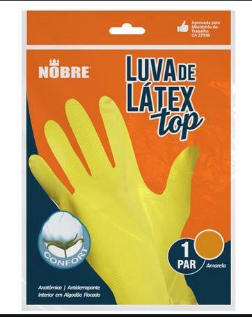 LUVA DE BORRACHA/LATEX TOP AMARELA G (NOBRE)
