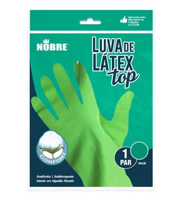 LUVA DE BORRACHA/LATEX TOP VERDE G (NOBRE)