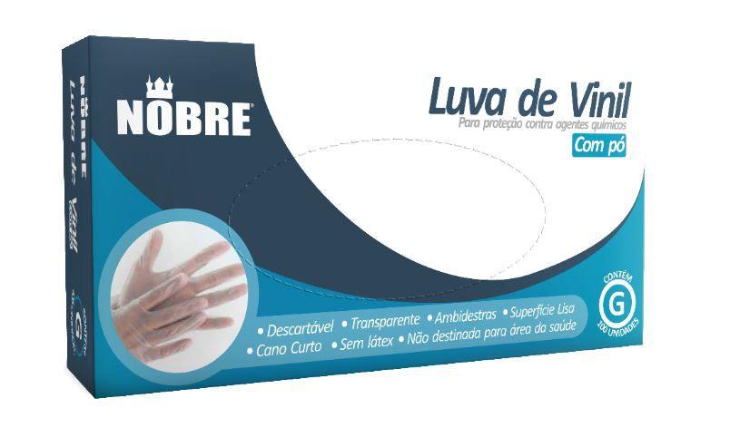 LUVA DE VINIL COM PO PROTECAO CONTRA AGENTES QUIMICOS (NOBRE)
